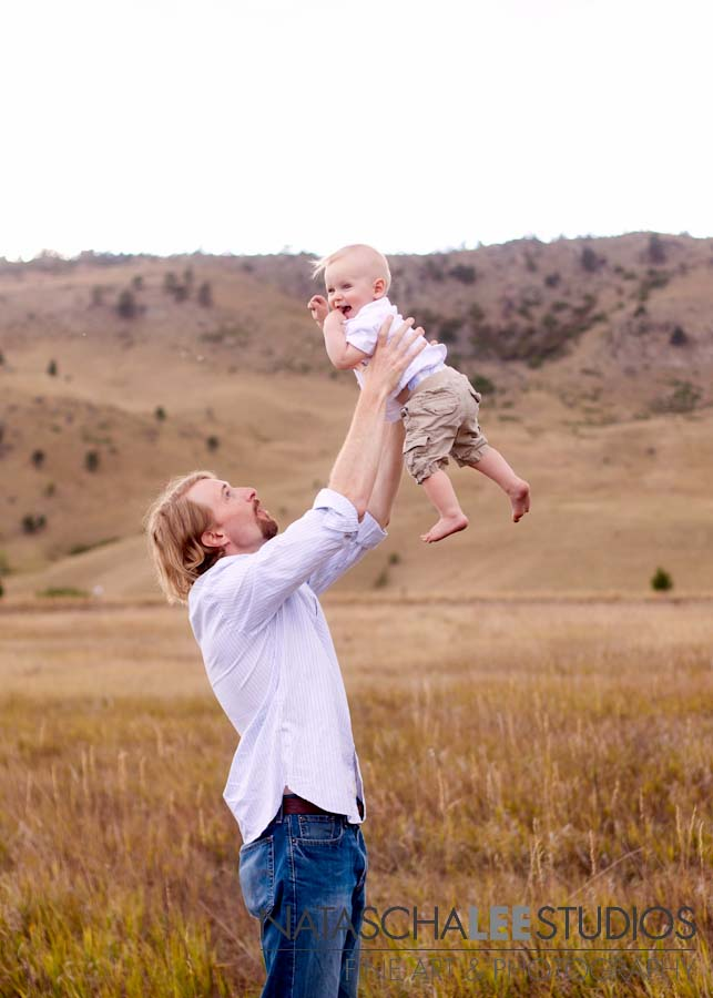 Children's Photography Broomfield, Colorado - Daddy holding baby in air