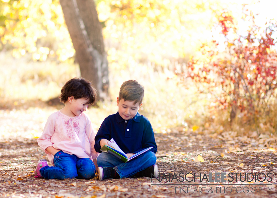 Brother & Sister Reading | Louisville, Colorado Family Photographer