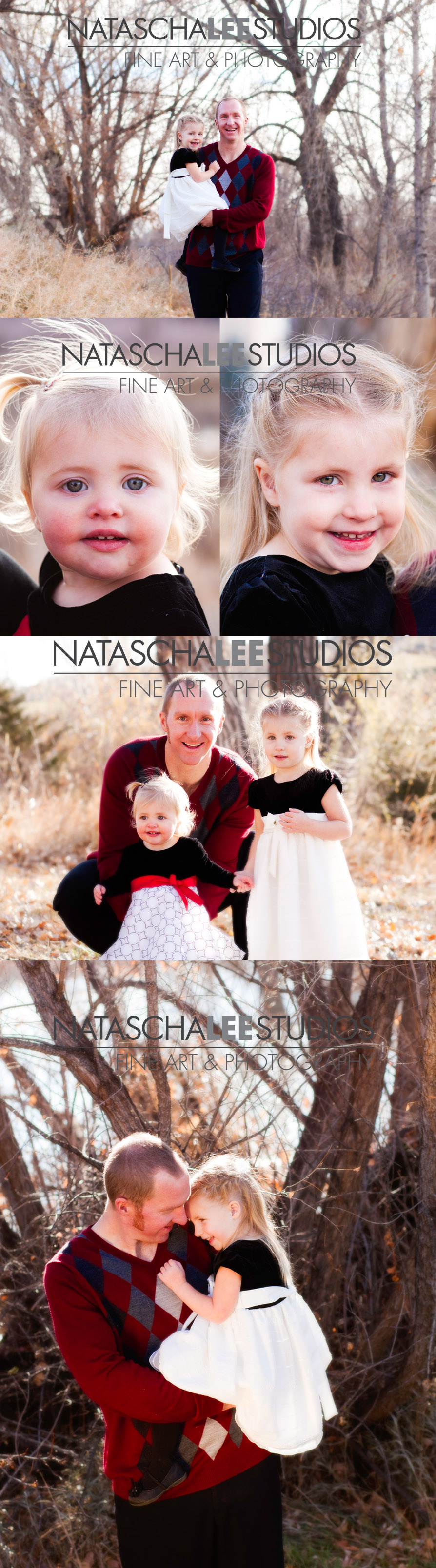 Daddy and his girls | Westminster, Colorado Family Photography - Natural, Outdoors, Vibrant Natascha Lee Studios