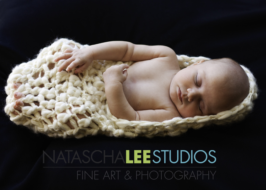 Sweet Sleeping Baby in Cocoon | Westminster, Colorado Baby Photography by Natascha Lee Studios