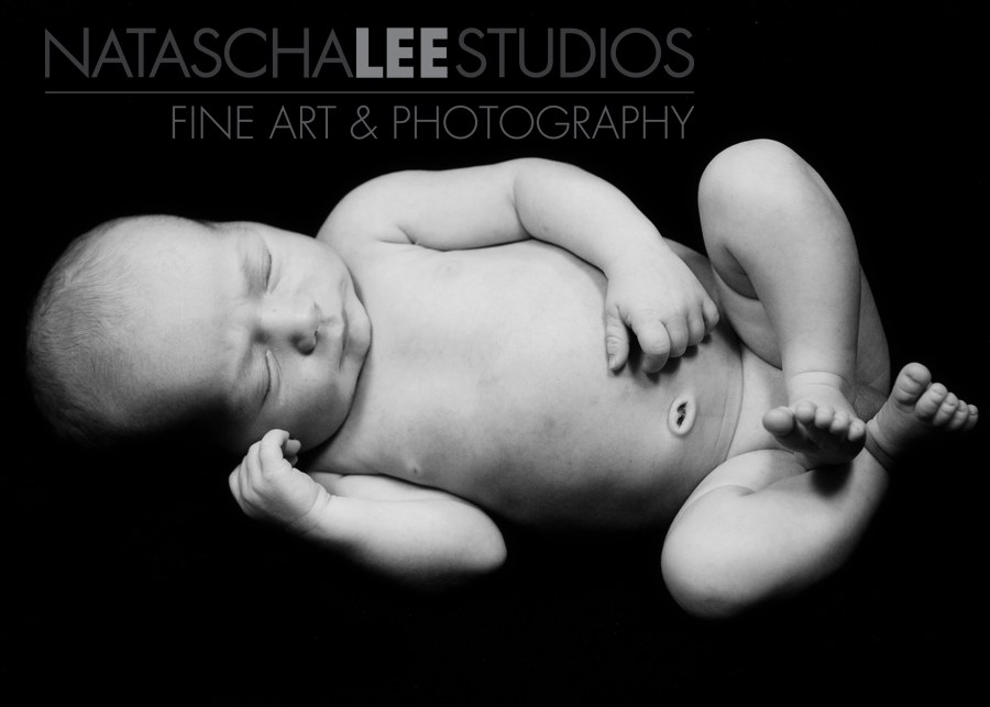 Newborn Baby Boy | Artistic Denver, Colorado Baby Photography in black and white by Natascha Lee Studios