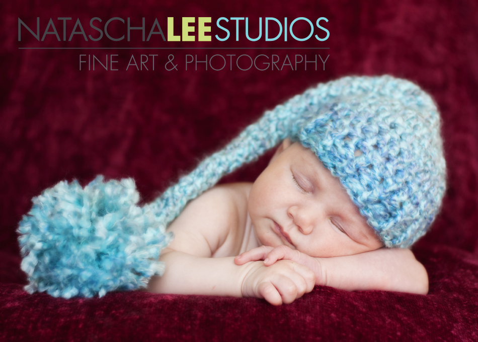 Broomfield, Colorado Baby Photography by Natascha Lee Studios - baby girl in sea foam blue knit hat
