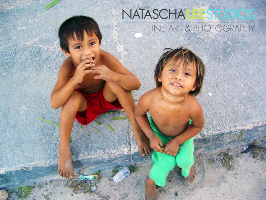Photo of two kids in Mexico for Kiva.Org posting