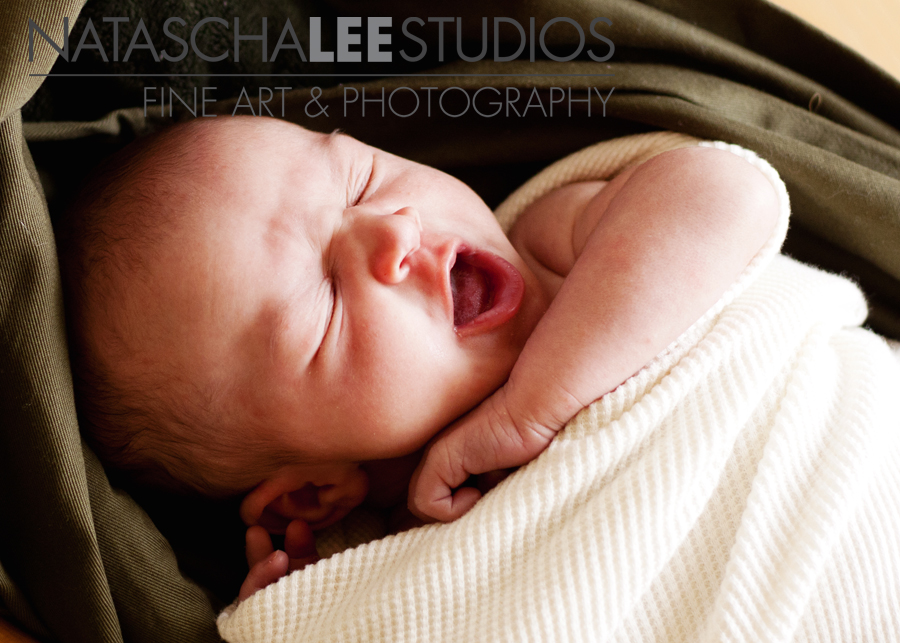 Big baby yawn | Newborn photography by Westminster, Colorado baby photographer Natascha Lee Studios