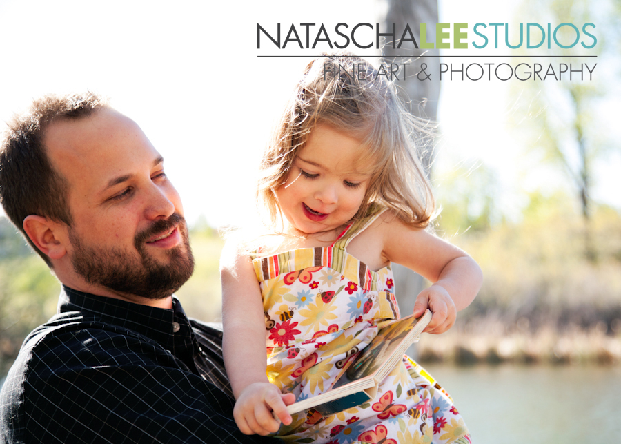 Broomfield Baby Photography Daddy and Daughter Reading Book