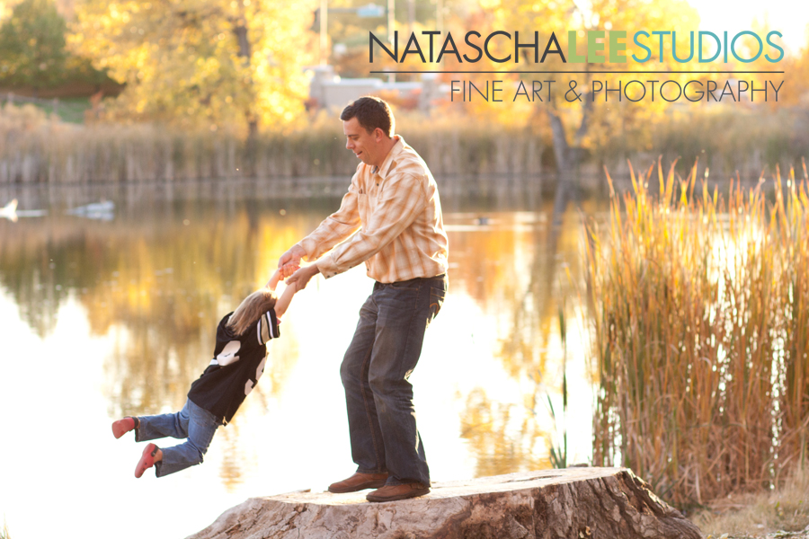 Daddy and Daughter Playing | Broomfield Baby and Family Photography by Natascha Lee Studios