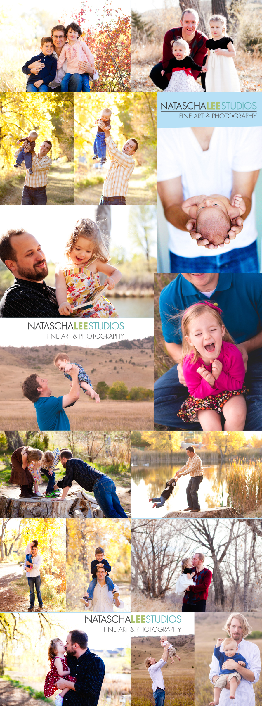 Fathers Day 2012 Collage  by Broomfield Colorado Family Photography and Portraits :  Natascha Lee Studios