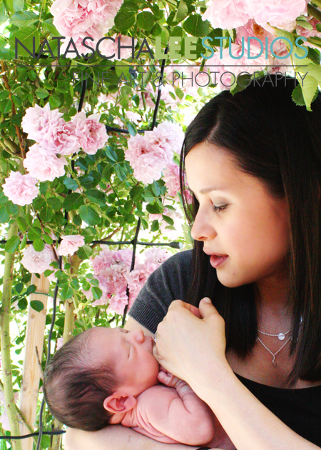 Mother and Baby Spring Flower Session Natascha Lee Studios