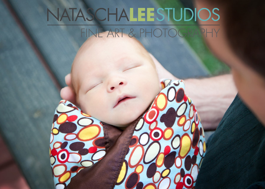 Natascha Lee Studios- Morrison Baby Photography - Sweet Baby Boy F in Daddy's Hands