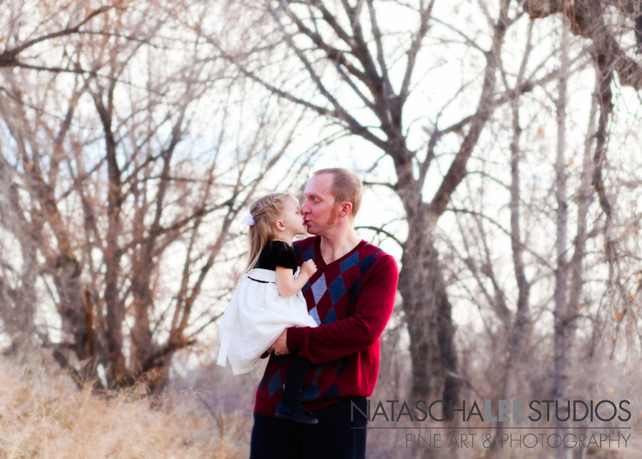 Girl and her Daddy Kissing | Broomfield Colorado Baby and Family Photography by Natascha Lee Studios
