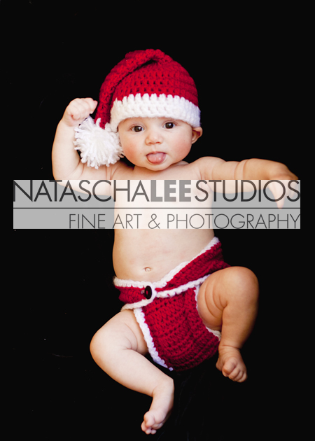 Cherry Creek, Colorado Newborn Portraits - Santa Baby by Natascha Lee Studios