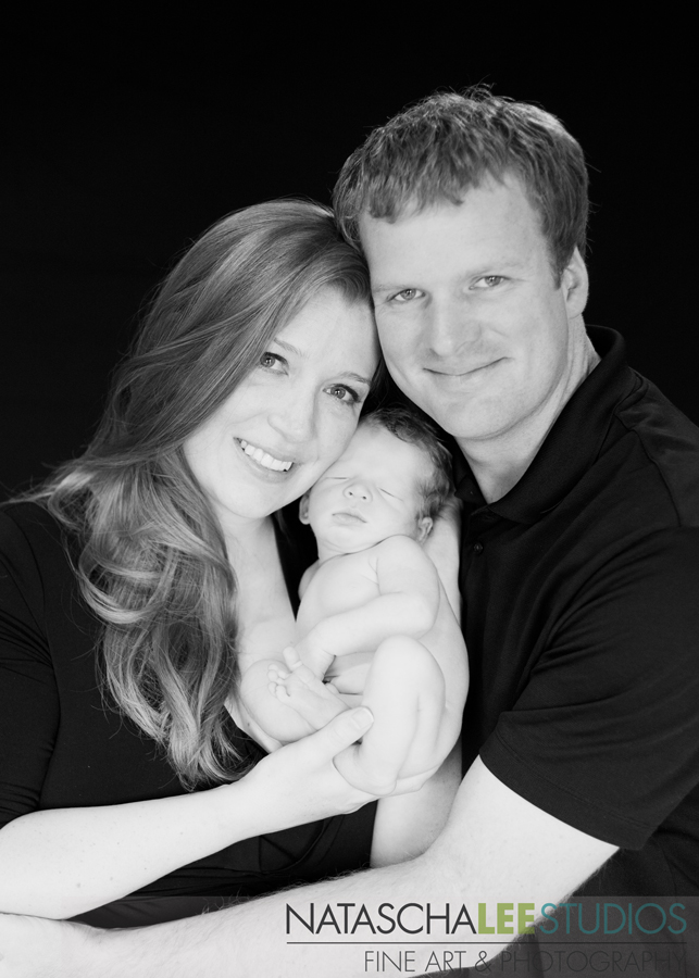 Black and White Newborn Portraits for Families in Golden, Colorado 5589