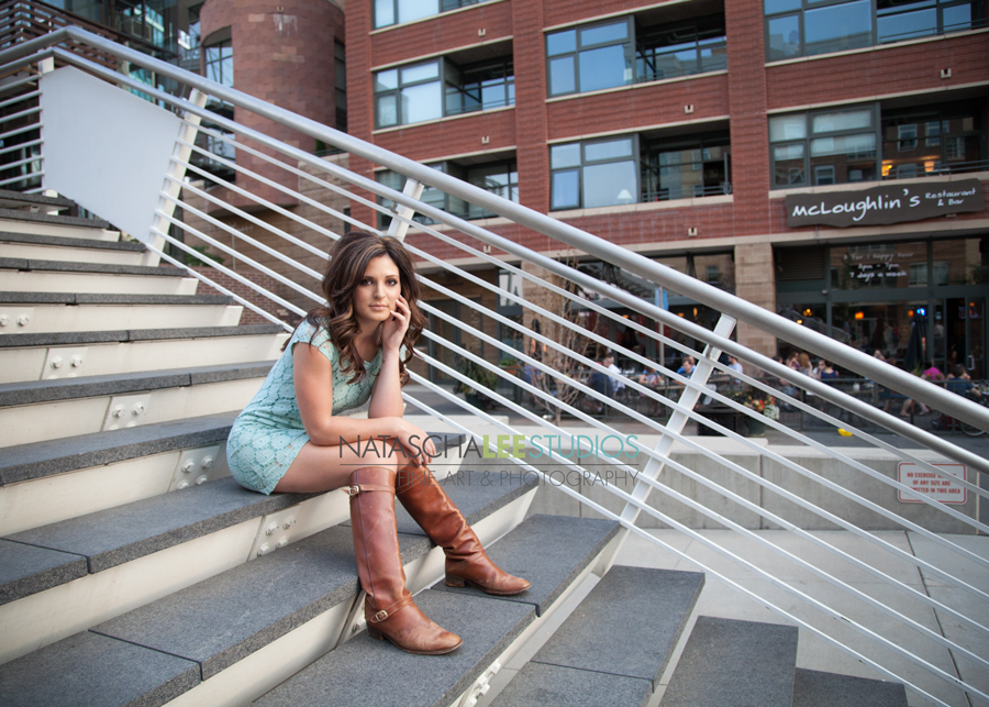 Urban Stylish Denver High School Senior Portraits by Natascha Lee Studios