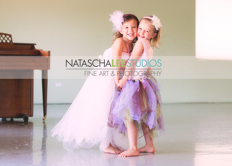 Broomfield, Colorado - Ballet Art Shoot for Dancers  by Natascha Lee Studios - Adorable Girls Holding Hands with TuTu Dresses