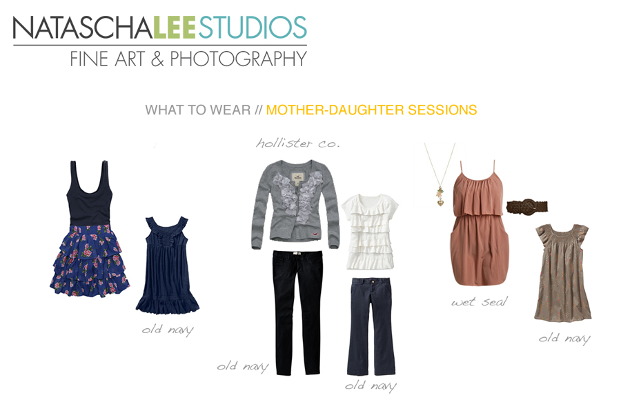 What to wear for a mother/daughter session in Cherry Hills Village, Colorado