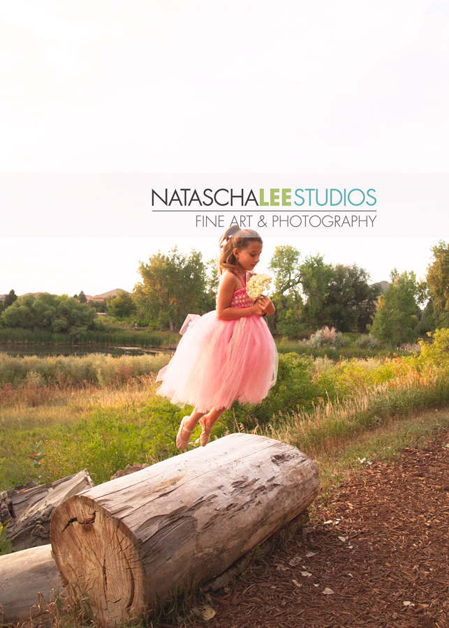 Lafayette Colorado Creative Ballet Dance Performer Children's Portraits - Flying Dancer Tutu Flower Girl