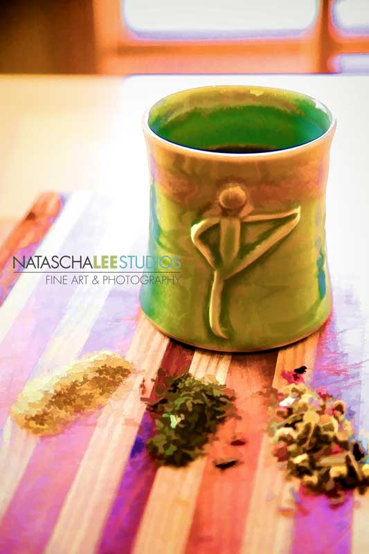 Custom Tea and Yoga Coffee Mug by Natascha Lee Studios - Tea Art