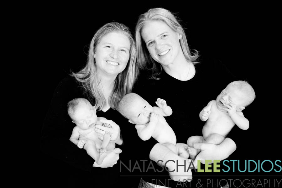 Triplets - Baby Photography for Denver Families - IMG_1195 BW Natascha Lee Studios Sharing Files