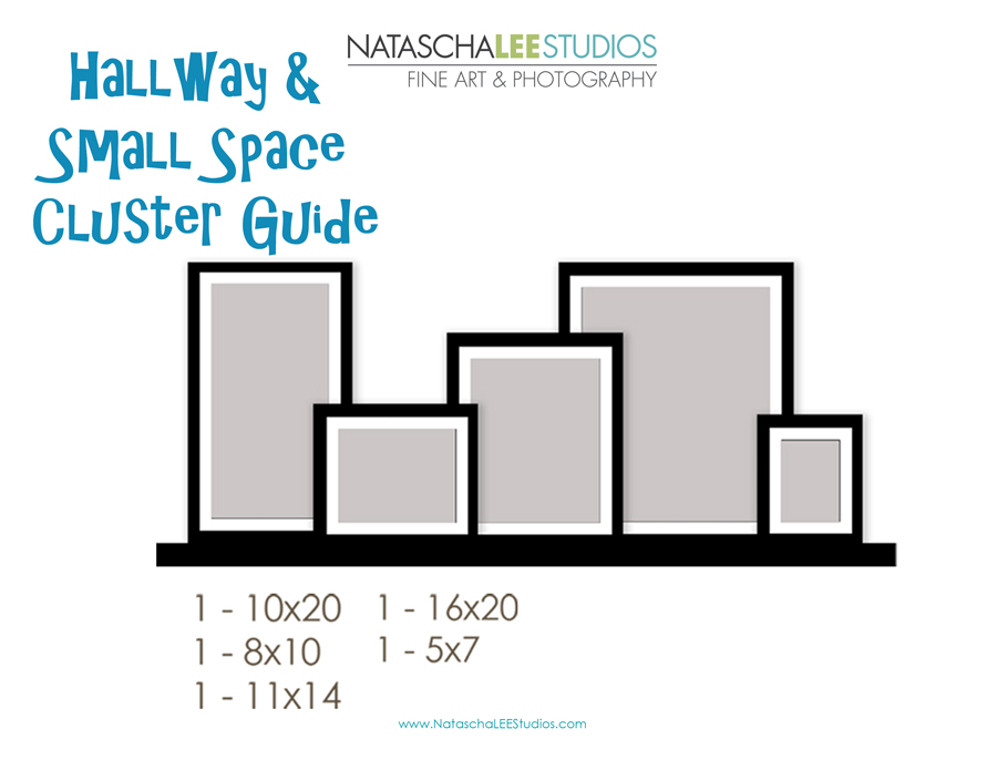 Small space hallways display guide Natascha Lee Studios