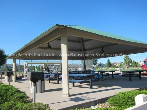 Large Gazebo with six picnic tables
