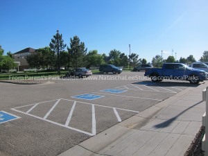 Close parking, off Sheridan for Broadlands West Park in Broomfield
