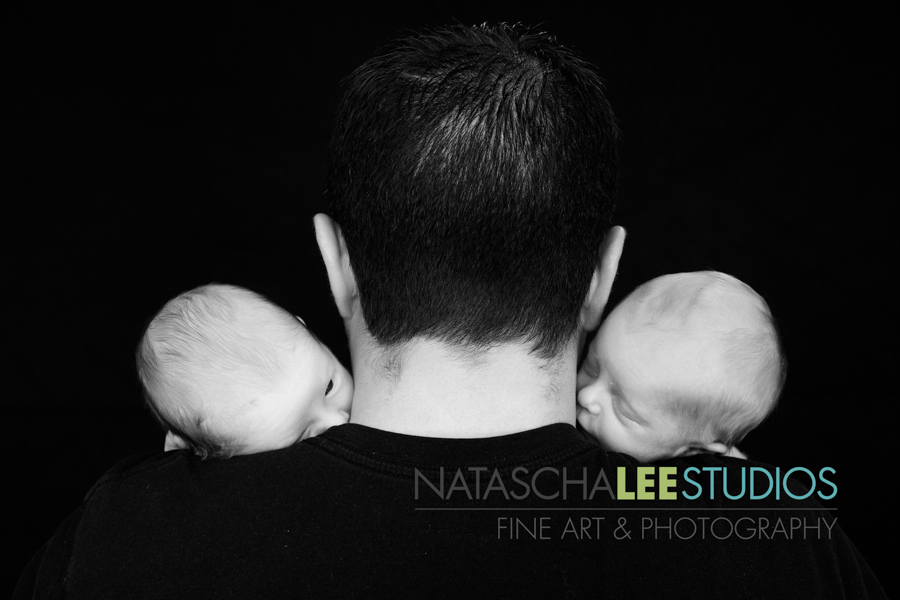 Westminster Baby Photography - Natascha Lee Studios - Twins - Black and White