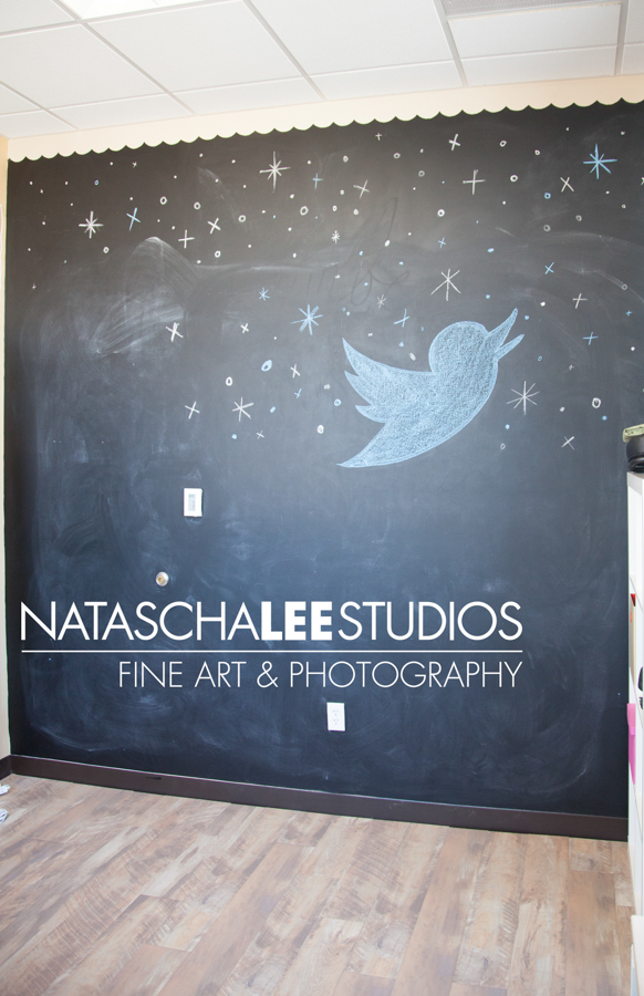 Chalkboard backdrop - Natascha Lee Studios Tour - IMG_8136 el