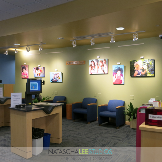 Check Out My Portrait Display at Broomfield's Mamie Doud Library (Natascha Lee Studios)