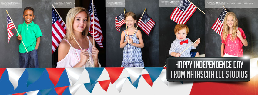 Happy Independence Day America from natascha lee studios - 4th of july Flag Series Portraits , Denver Kid's Photography