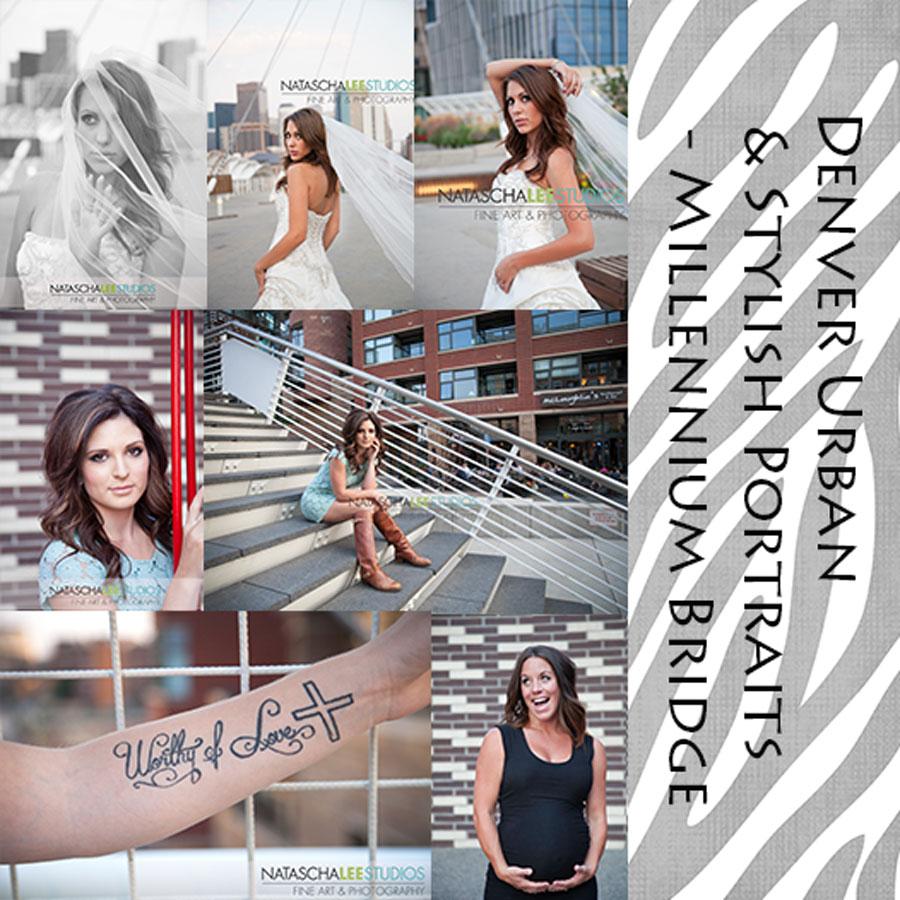 Natascha Lee Studios - Denver Urban Portraits - Millennium Bridge - Bridal, Senior and Maternity Photography