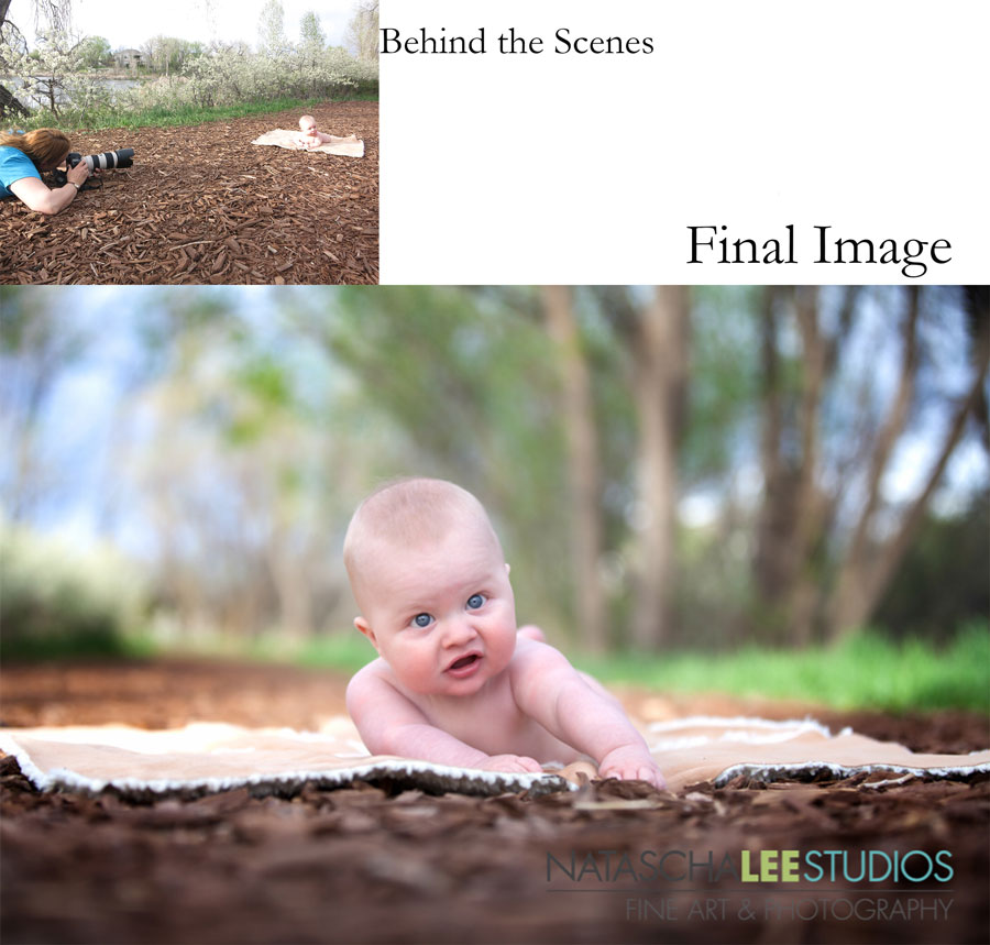 Denver Baby Photography –  Outdoor Newborn Infant Portraits, Nature Setting