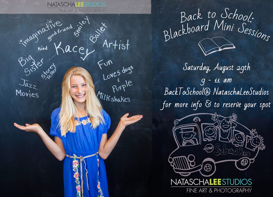 Blackboard Personalized Back to school mini sessions denver school kids