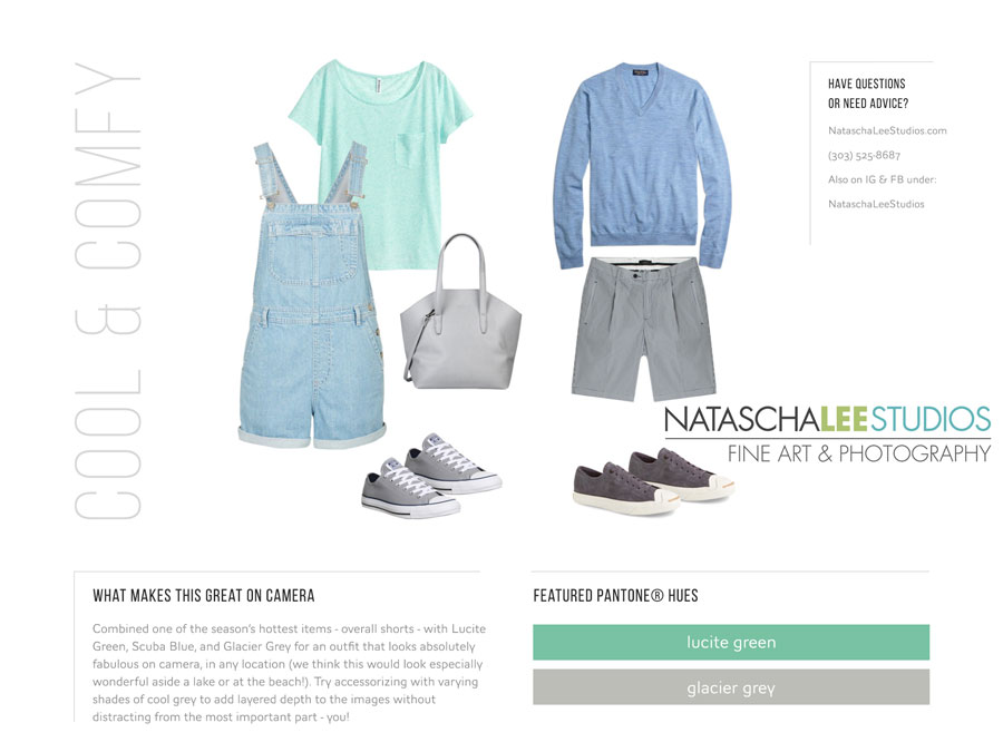 What to Wear Summer Portraits by Natascha Lee Studios - Cool & Comfy - Denver Portraits