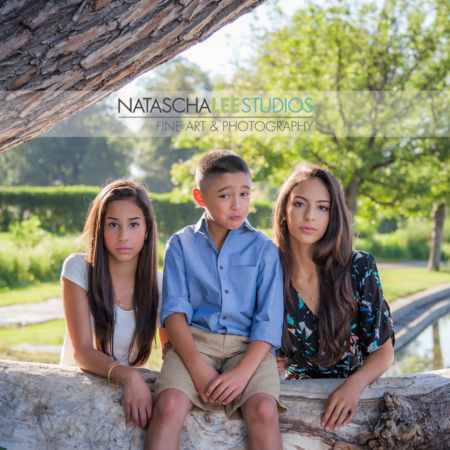 Denver Family Outdoor Portraits - Washington Park - Zoolander Look - Sibilings - Natascha Lee Studios