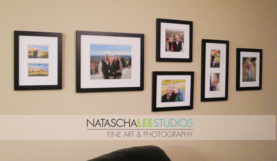 Wall Portrait Display Ideas for Denver Family Portraits (Natascha Lee Studios)