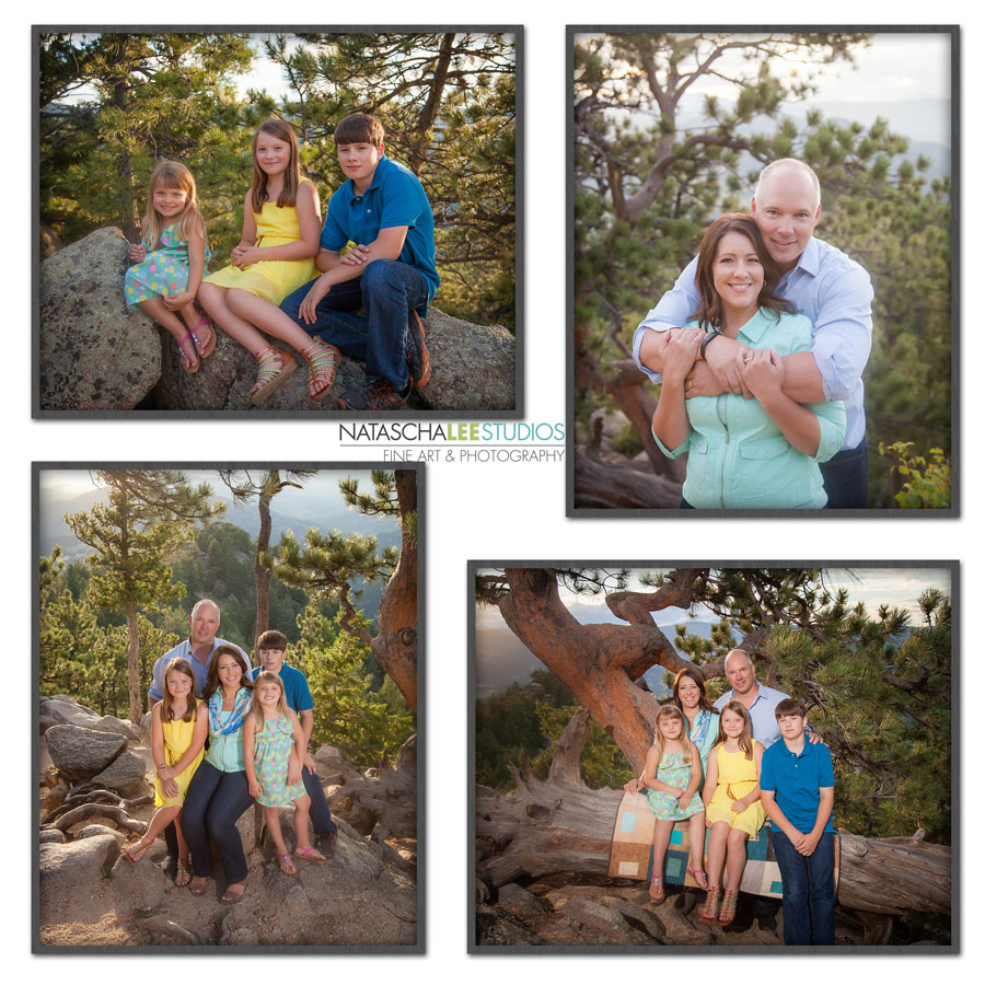 Family Portraits on a Boulder Mountain – Outdoor Colorado Family Photography