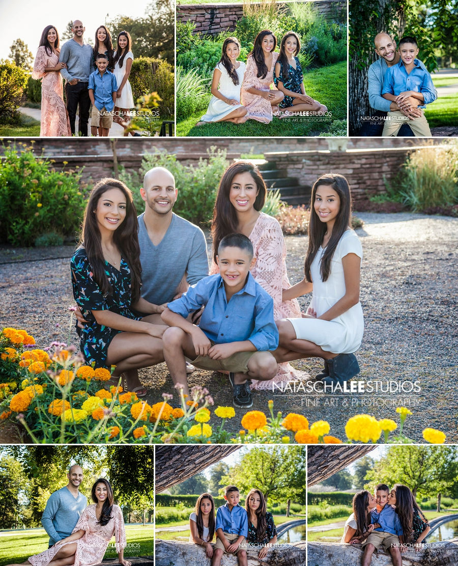 Wash Park Family Portraits in the Gardens by Natascha Lee Studios