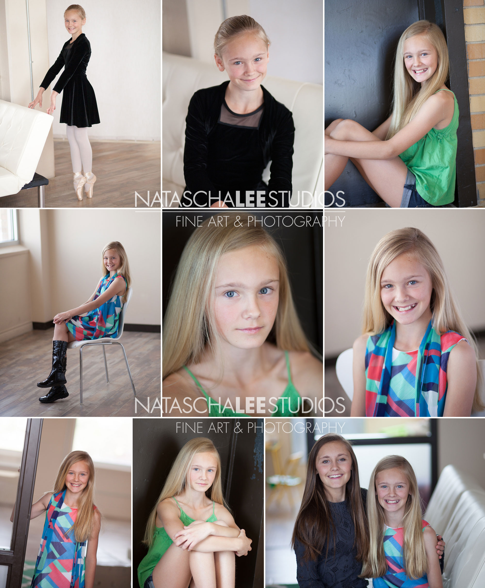 Denver Dancer Tween Teen Girl Model Portfolio and Headshot Images by Natascha Lee Studios