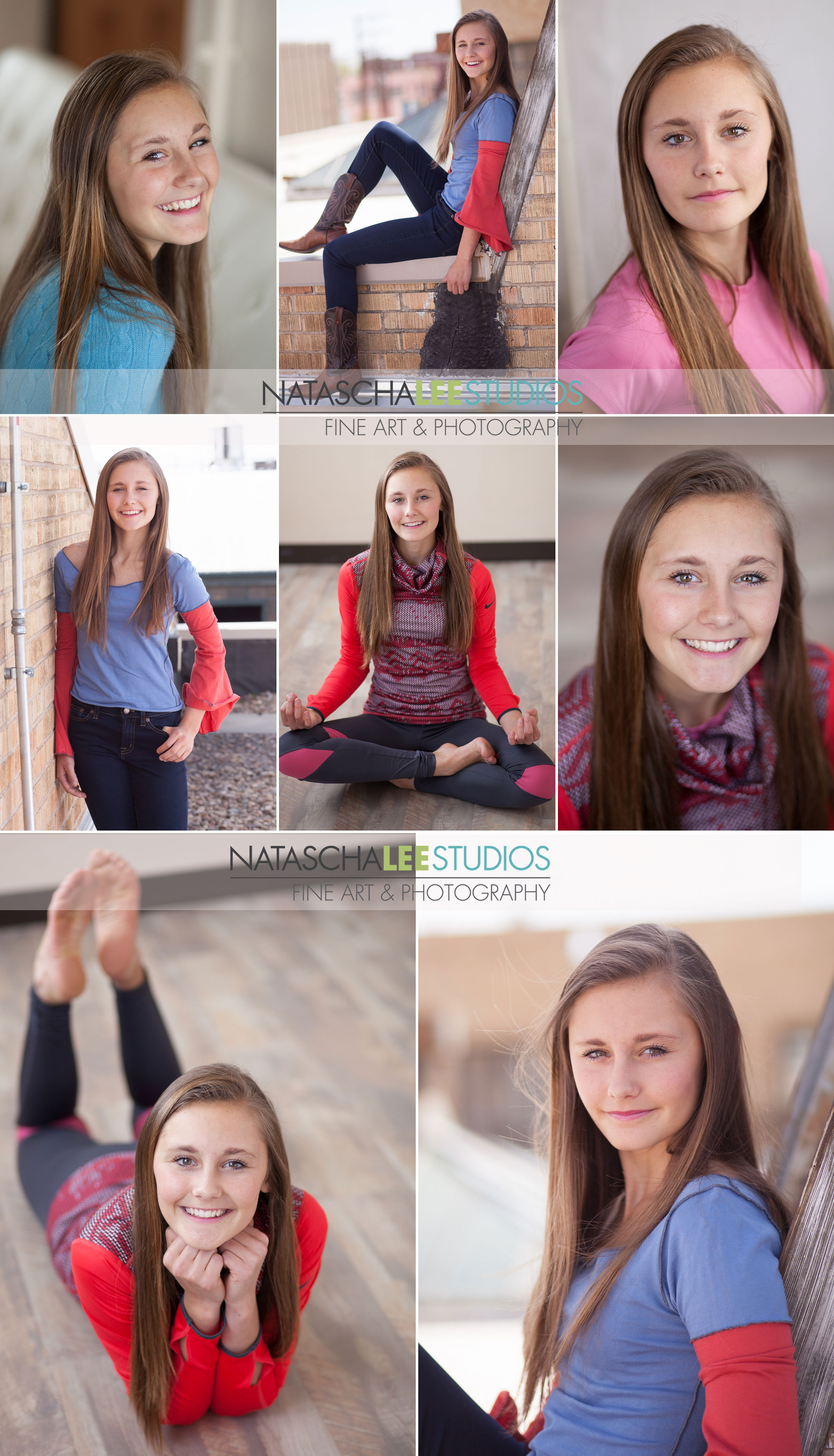 Cherry Creek Denver Highschool Teen Girl Model Portfolio Headshots by Natascha Lee Studios