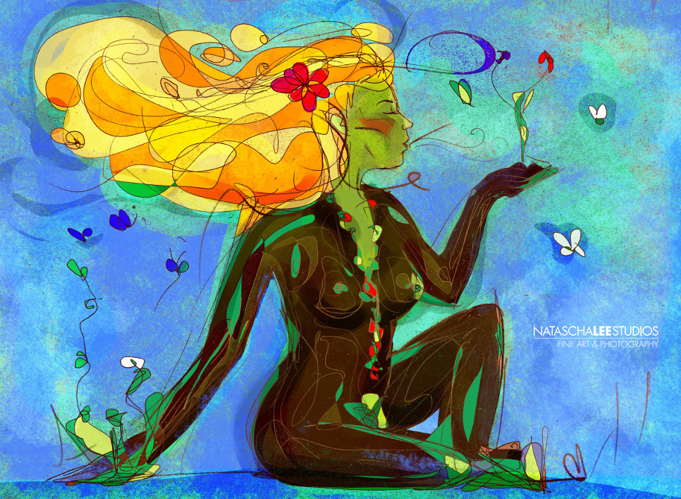 Superhero Mother Earth from Natascha Lee Studios by Italian Artist Electra