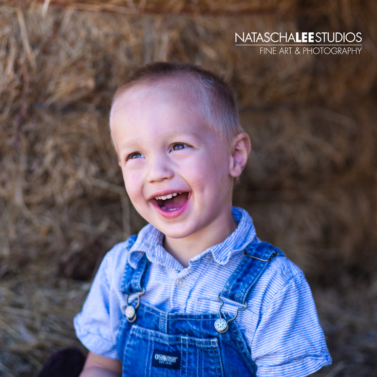 Fine Children's Portraiture: Adorable Toddler Boy in Farmer's Overalls (Denver Children's Photographer)