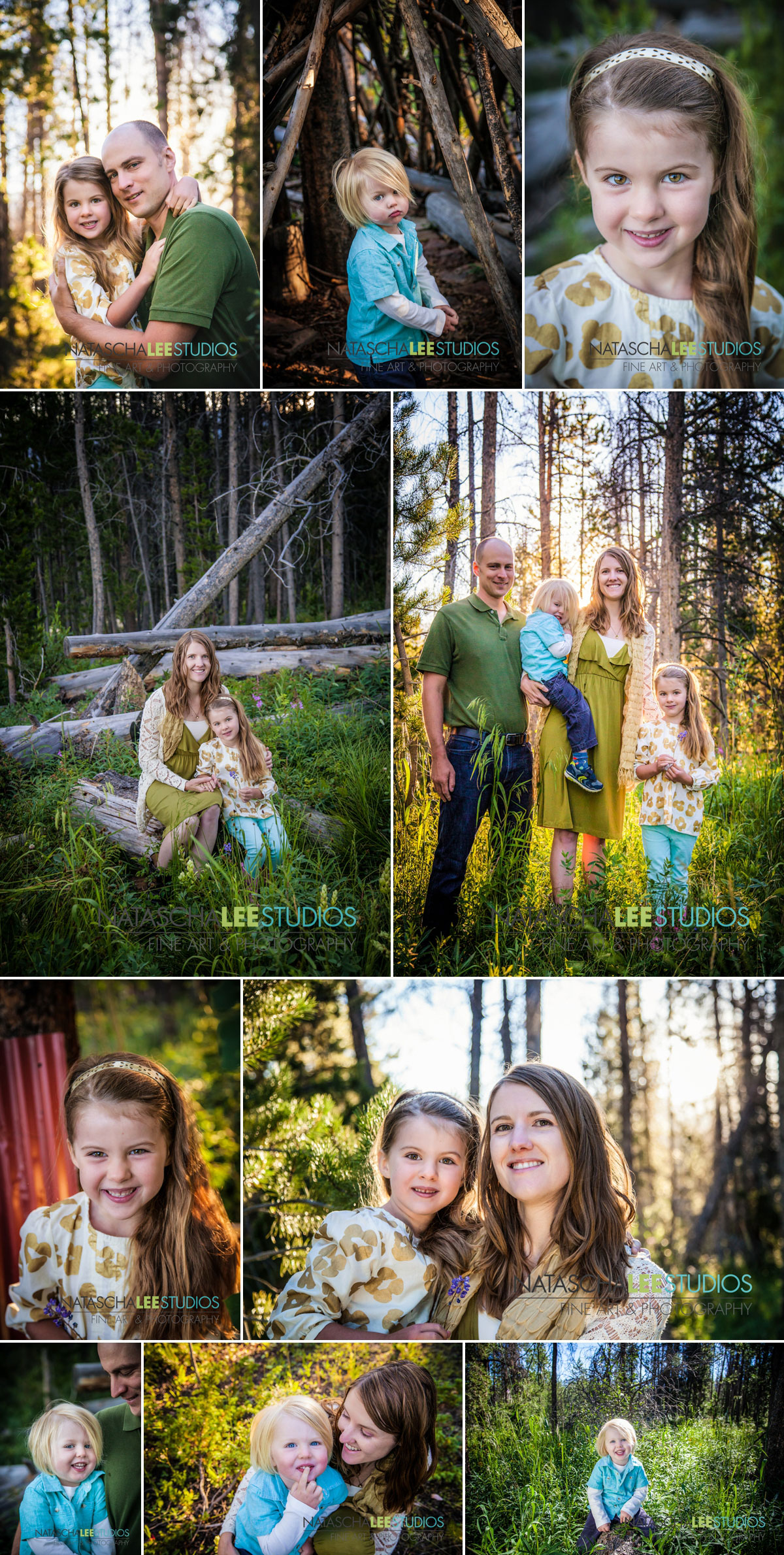 Fraser Family Portraits Outdoors by Natascha Lee Studios