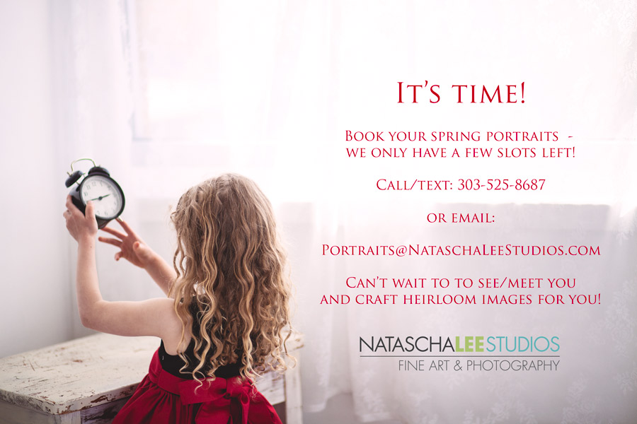 Denver Parents- book your spring family portraits now