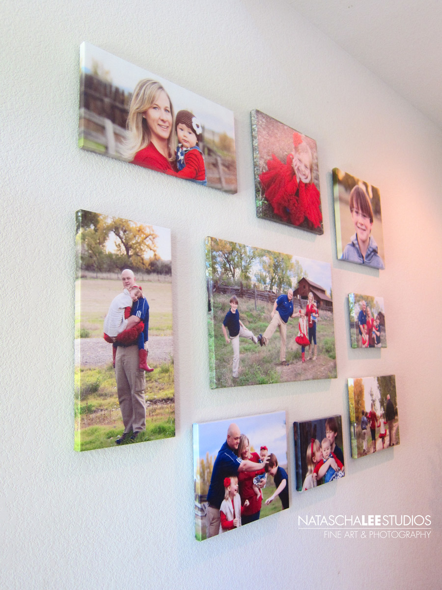 Broomfield Family Photography - Canvas Cluster Wall Display for Family Portraits by Natascha Lee Studios