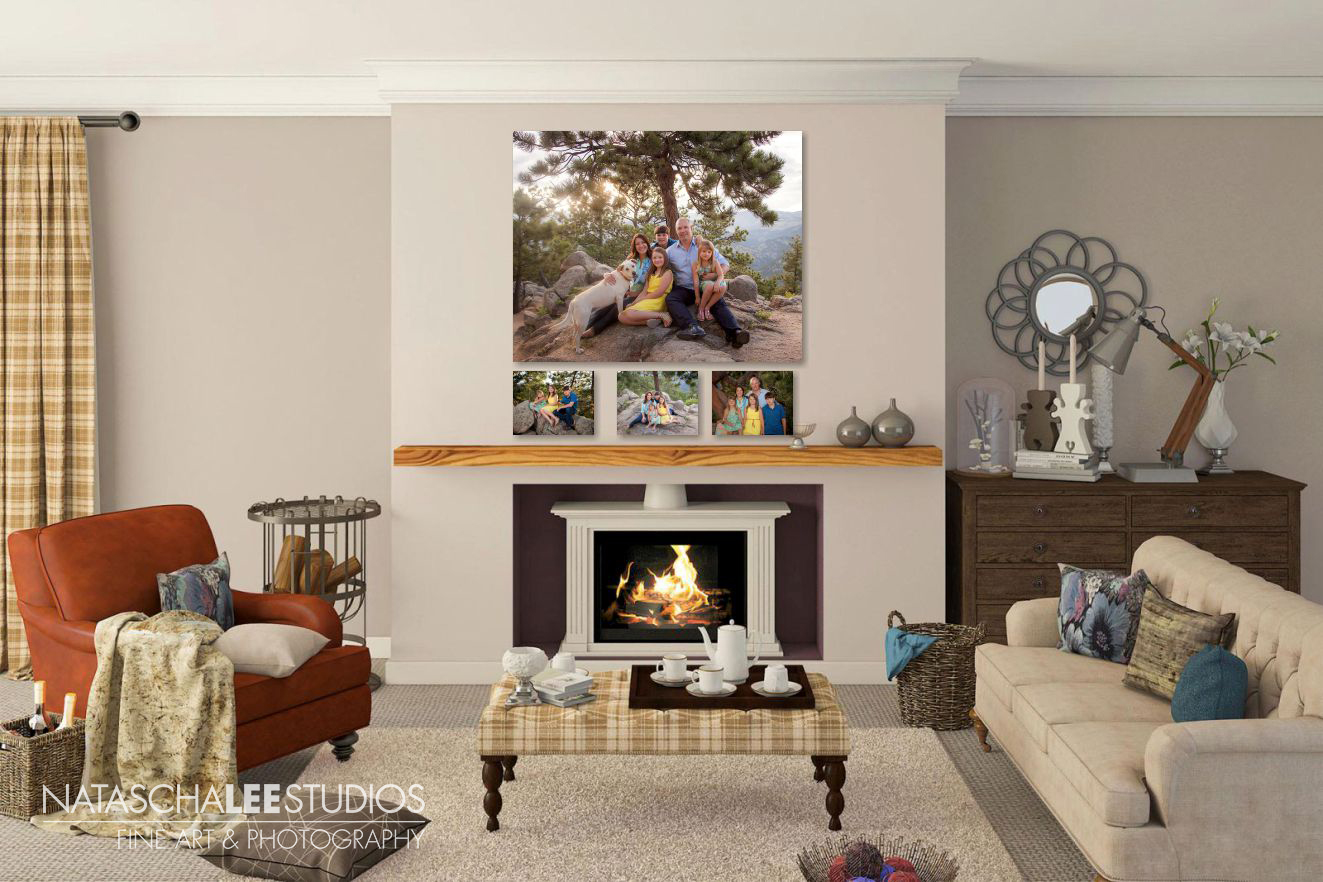 6 ideas for Wall Collections / Canvas Cluster Family Portraits