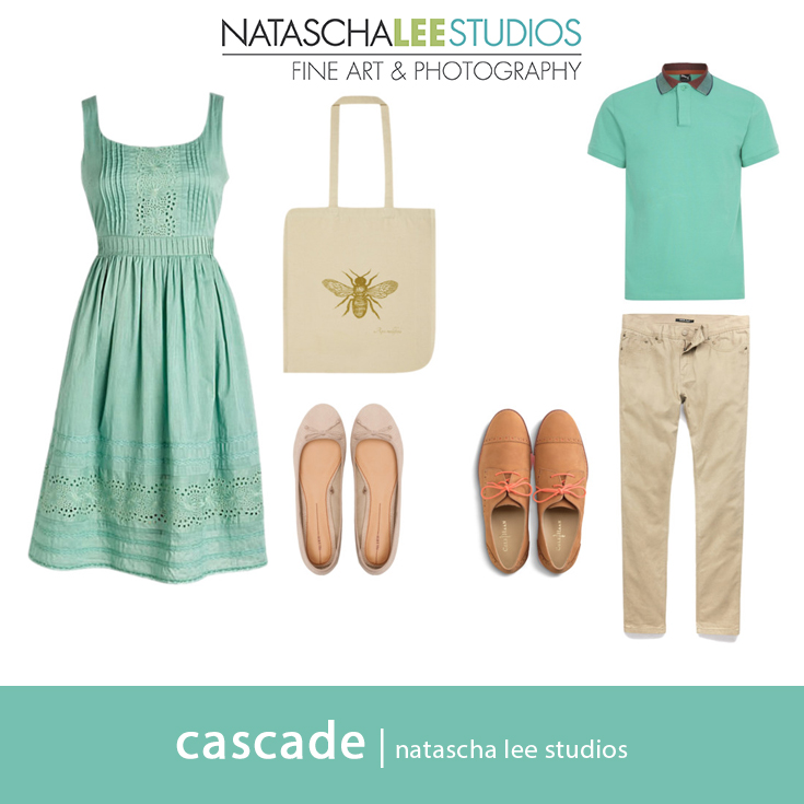 What to Wear for Spring Couples Portraits (Idea #2) : Cascade