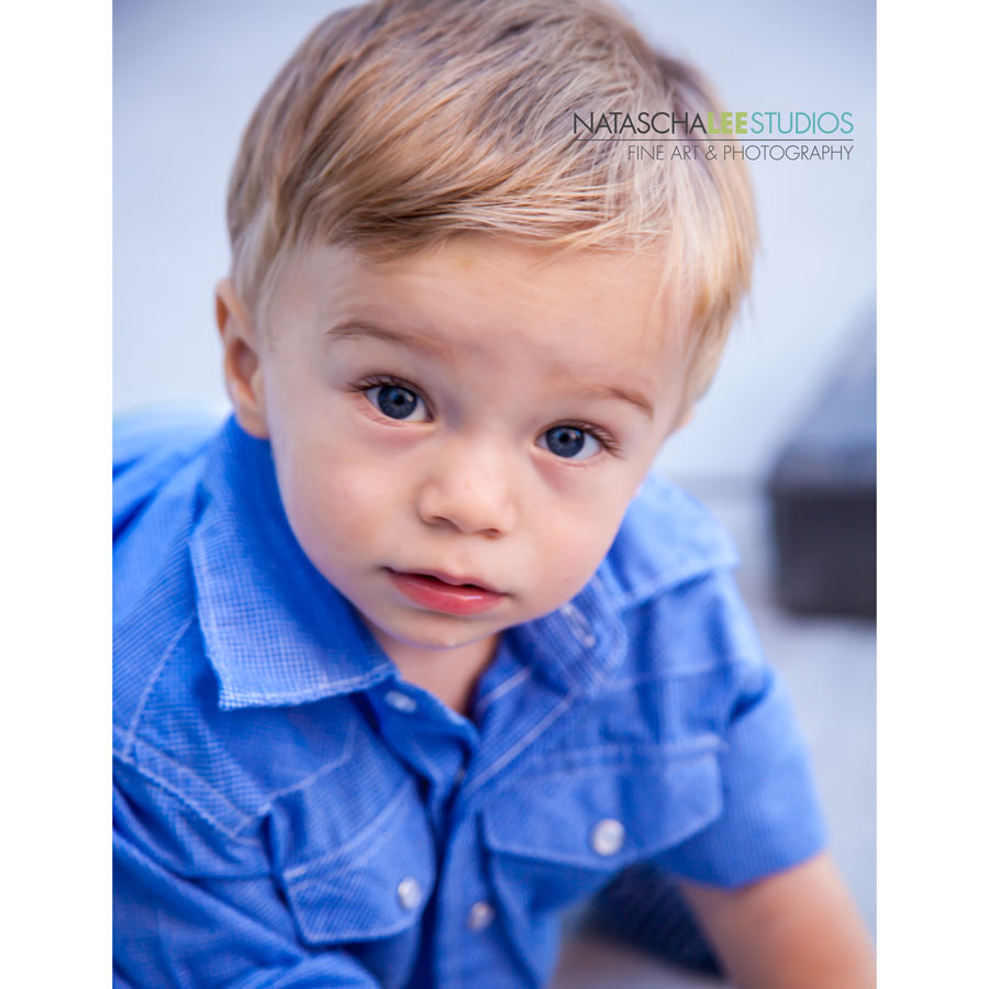 Adorable Boys in Blue - Child Model Portraits