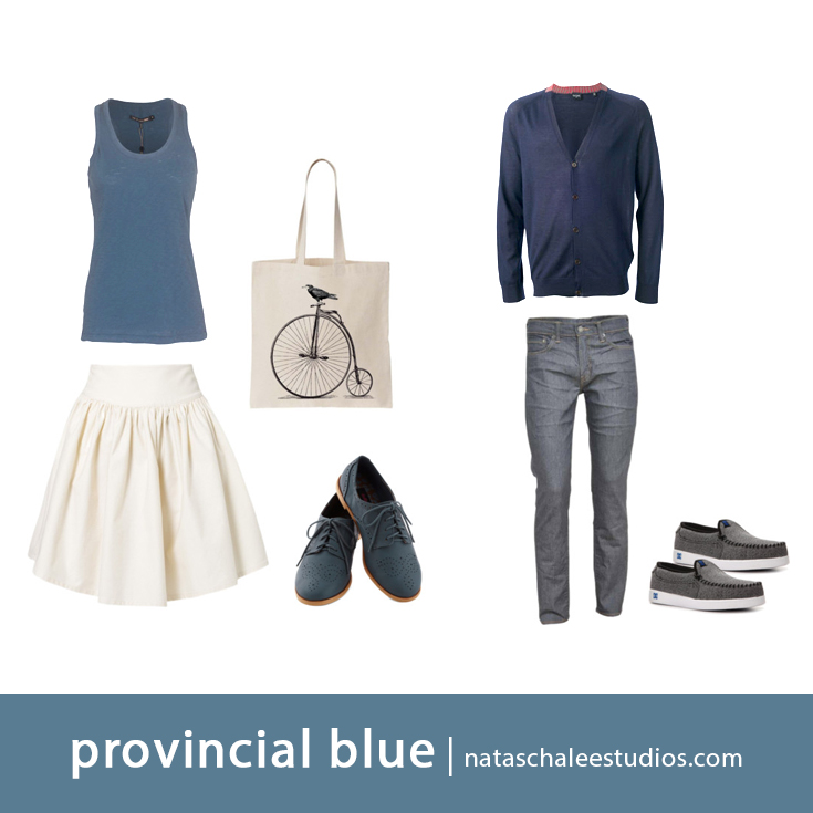 What to Wear for Spring Family Portraits : Provincial Blue