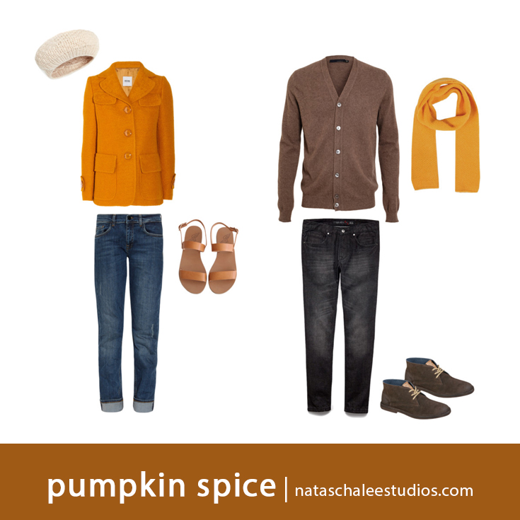 What to Wear for Fall Family Portraits : Pumpkin Spice