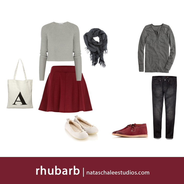 What to Wear for Winter Family Portraits : Gray & Rhubarb